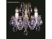 Krištáľové svietidlo nástenné 32402K-0505