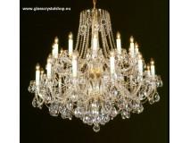 Krištáľové svietidlo stropné 37424P-0505/S