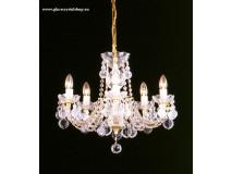 Krištáľové svietidlo stropné 3002/5-1007
