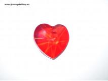 Krištáľové srdiečko VALENTÍN - ruby