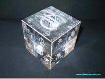 Krištáľová kocka EUR hracia